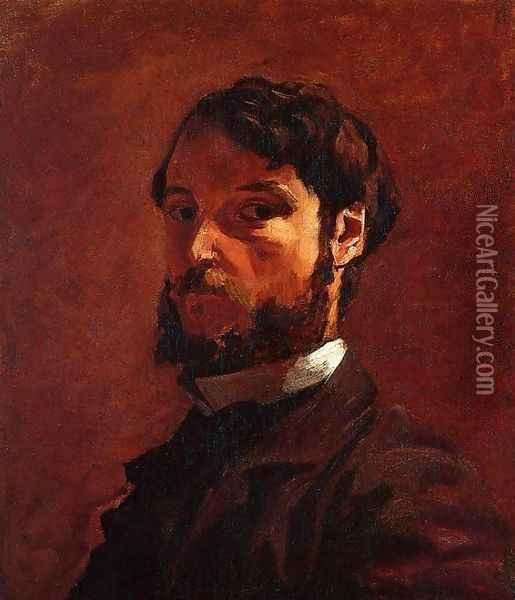 Portrait of a Man Oil Painting - Frederic Bazille
