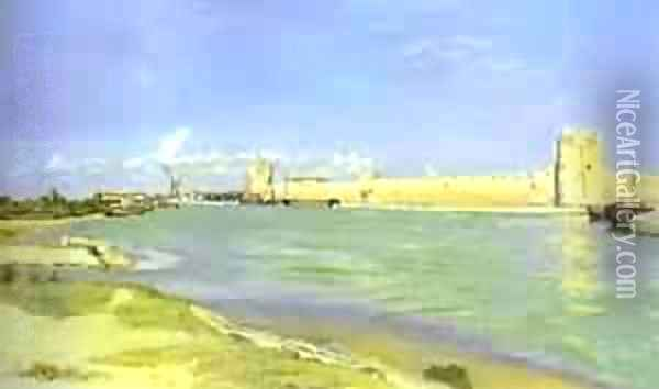 Mall Of Aigues Mortes 1867 Oil Painting - Frederic Bazille