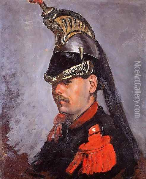 Portrait of Alphonse Tissie 1868 Oil Painting - Frederic Bazille