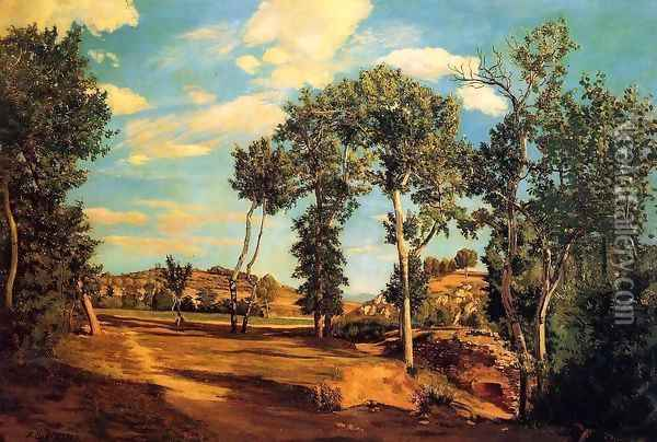 The Banks of the Lez 1870 Oil Painting - Frederic Bazille