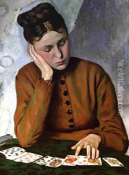 The Fortune Teller 1869 Oil Painting - Frederic Bazille