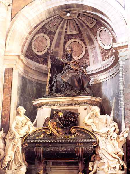 Tomb of Pope Urban VIII Oil Painting - Gian Lorenzo Bernini