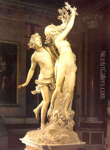 Apollo and Daphne Oil Painting - Gian Lorenzo Bernini