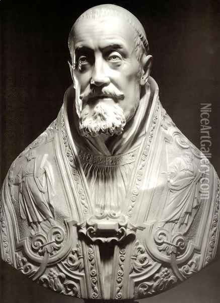 Bust of Pope Gregory XV Oil Painting - Gian Lorenzo Bernini