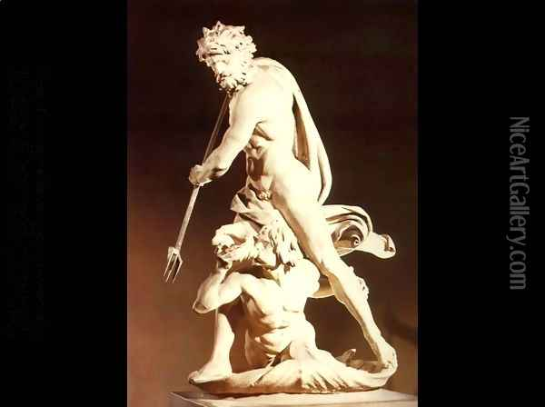 Neptune and Triton Oil Painting - Gian Lorenzo Bernini