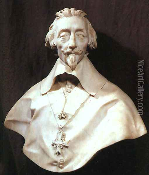 Bust of Cardinal Armand de Richelieu Oil Painting - Gian Lorenzo Bernini