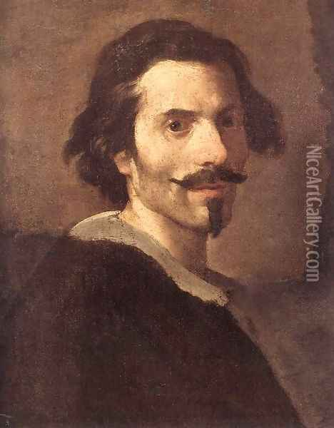 Self-Portrait as a Mature Man Oil Painting - Gian Lorenzo Bernini