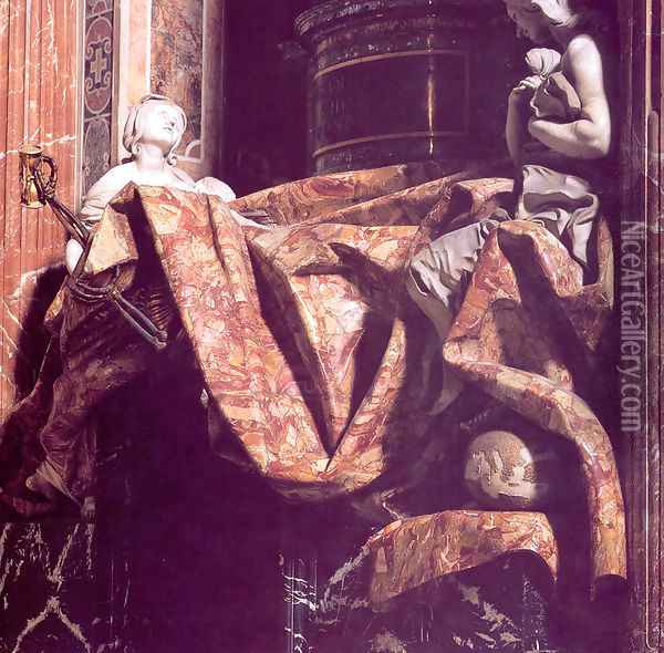 Tomb of Pope Alexander VII [detail] Oil Painting - Gian Lorenzo Bernini
