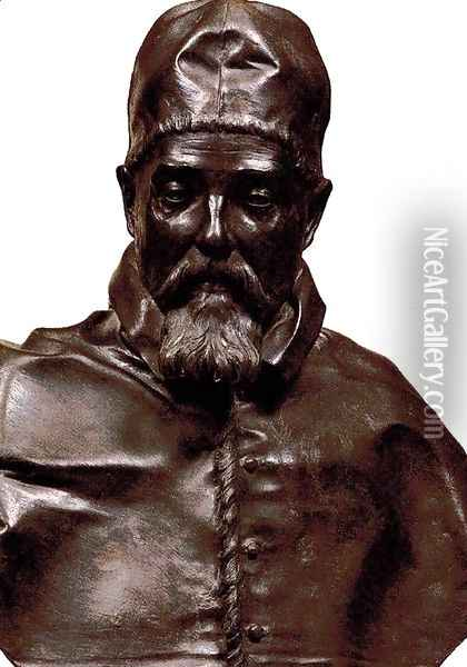 Bust of Pope Urban VIII Oil Painting - Gian Lorenzo Bernini