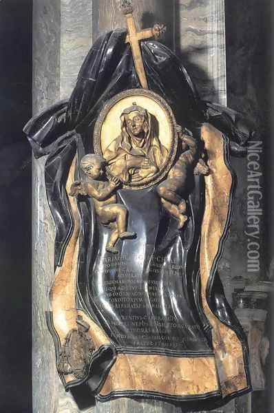 Memorial to Maria Raggi Oil Painting - Gian Lorenzo Bernini