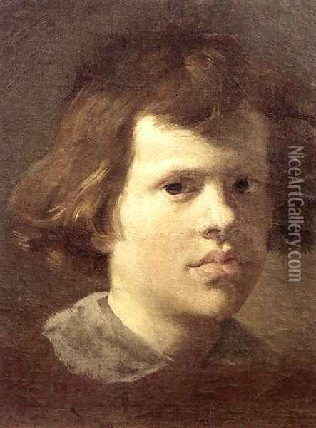 Portrait of a Boy Oil Painting - Gian Lorenzo Bernini