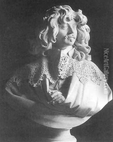 Bust of Thomas Baker Oil Painting - Gian Lorenzo Bernini