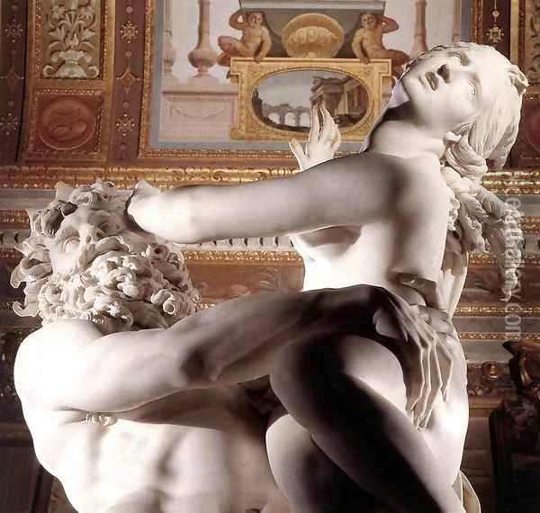 The Rape of Proserpine [detail: 4] (or Pluto and Proserpine) Oil Painting - Gian Lorenzo Bernini