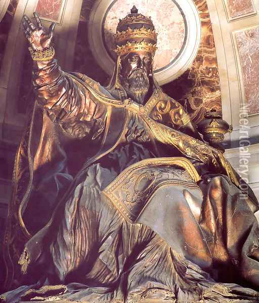 Tomb of Pope Urban VIII [detail] Oil Painting - Gian Lorenzo Bernini