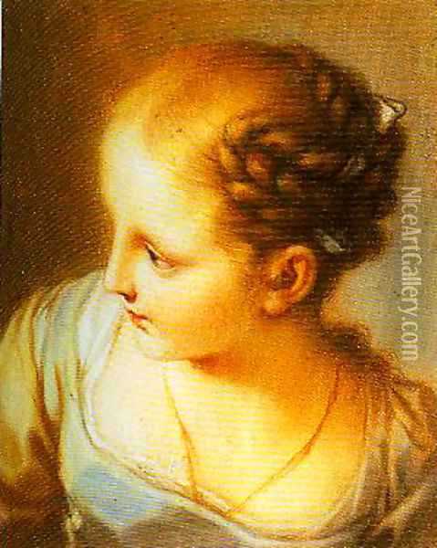 Portrait of a Young Girl Oil Painting - Pompeo Gerolamo Batoni