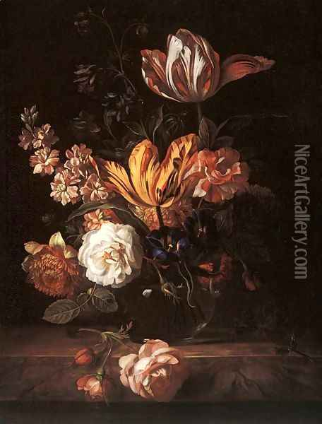 Flower Still-life Oil Painting - Jakab Bogdany