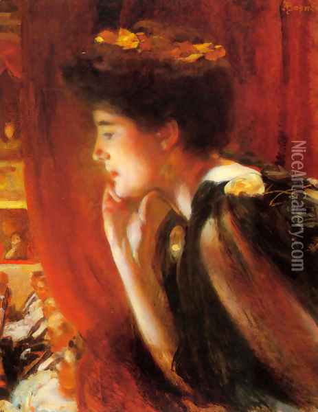 At The Opera Oil Painting - Paul Albert Besnard