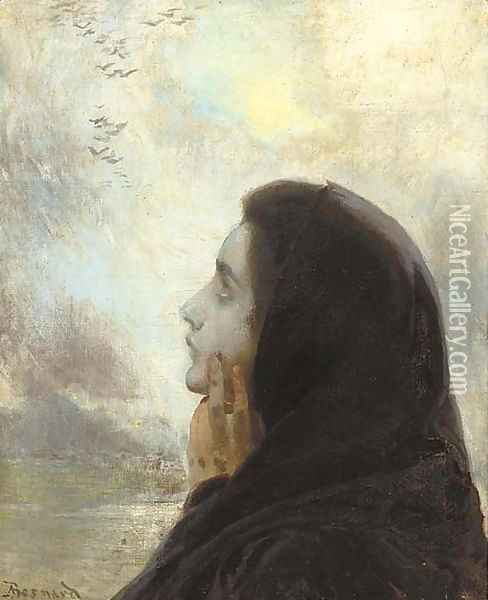 Contemplation Oil Painting - Paul Albert Besnard