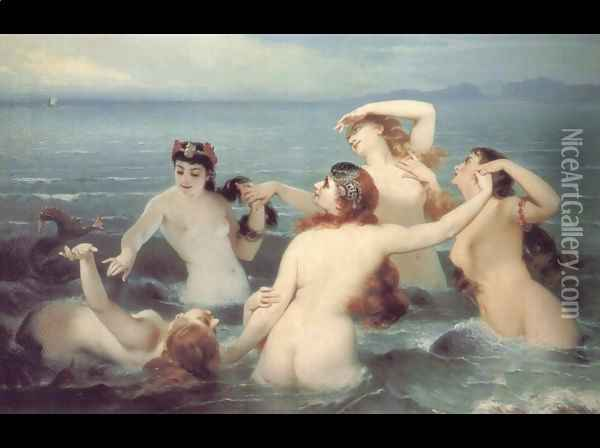 The Dance of the Sea, 1883 Oil Painting - Charles Edouard Boutibonne
