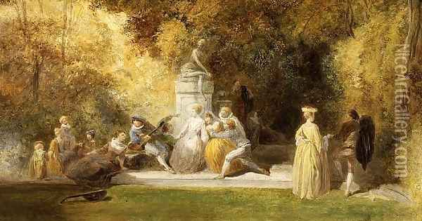 Fete Champetre Oil Painting - Charles Thomas Bale