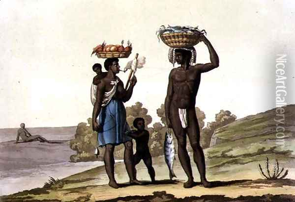 Negroes under a Good Master Oil Painting - G. Bramati