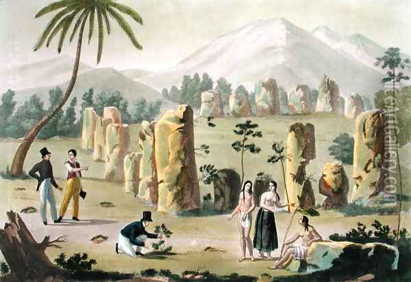 'House of the Ancients', Island of Tinian, plate 31 from 'Le Costume Ancien et Moderne' Oil Painting - G. Bramati