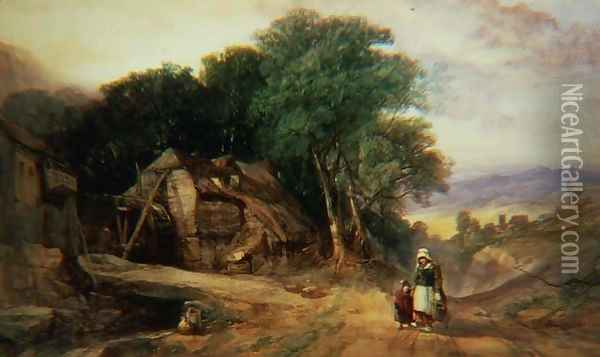 On the Borders of Dartmoor, c.1840 Oil Painting - Henry Bright