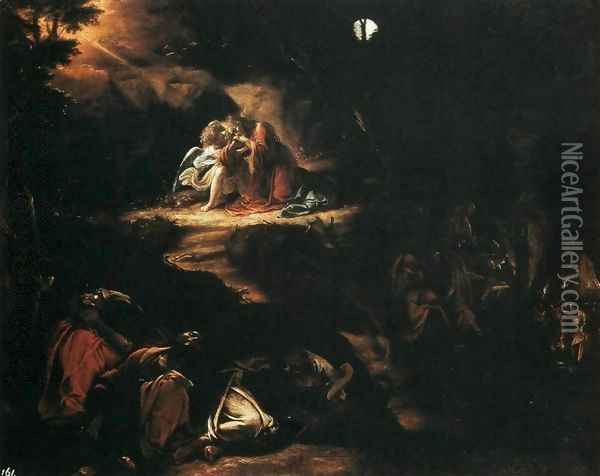 Christ In The Garden Of Gethsemane Oil Painting Reproduction By