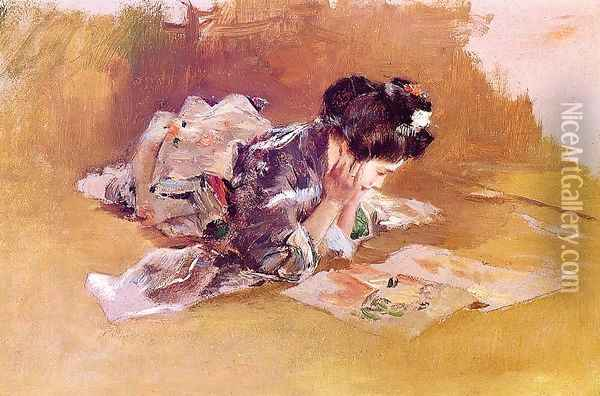 The Picture Book Oil Painting - Robert Frederick Blum