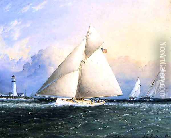 Yacht Race Oil Painting - James E. Buttersworth