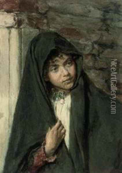 A Curious Glance Oil Painting - Alessandro Zezzos