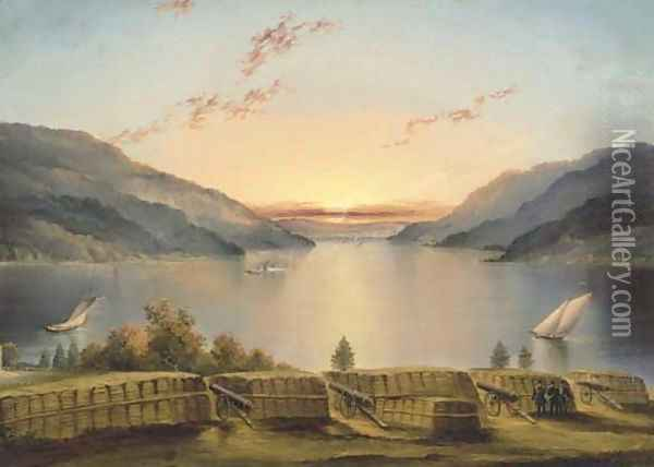 Hudson River from West Point Oil Painting - James E. Buttersworth