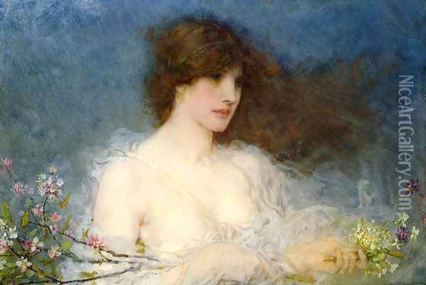 A Spring Idyll Oil Painting - George Henry Boughton
