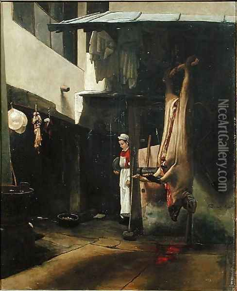 The Butcher Oil Painting - Francois Bonvin