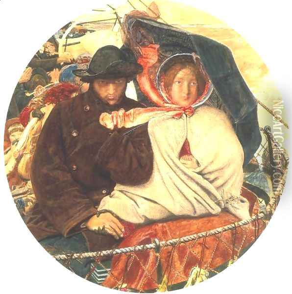The Last of England 1852-55 Oil Painting - Ford Madox Brown