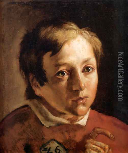 Head of a Page Boy Oil Painting - Ford Madox Brown