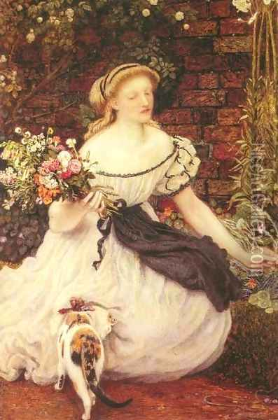 The Nosegay Oil Painting - Ford Madox Brown