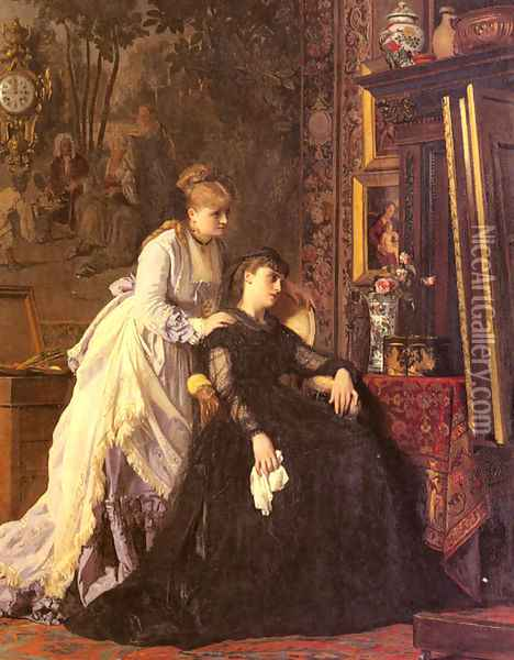 Memories Oil Painting - Charles Baugniet