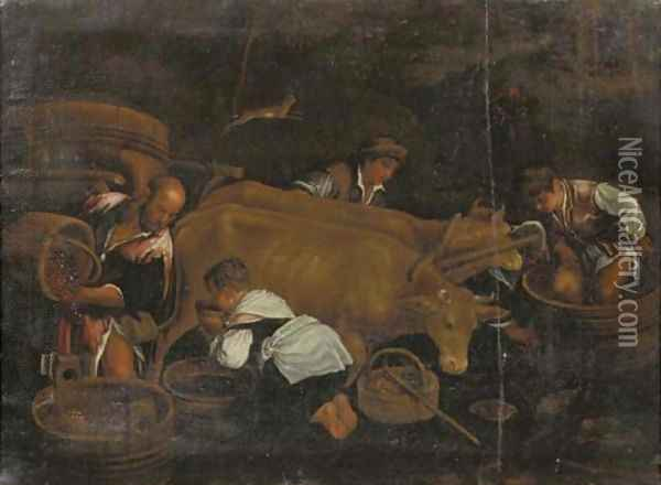 An Allegory of Autumn Oil Painting - Jacopo Bassano (Jacopo da Ponte)