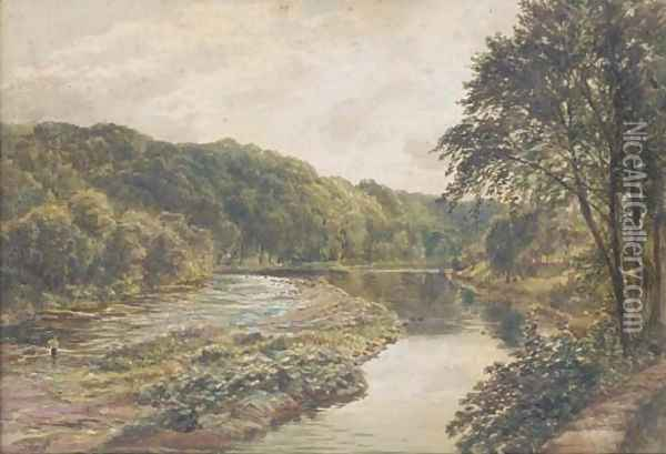 View of the River Eden, near Carlisle Oil Painting - Samuel Bough