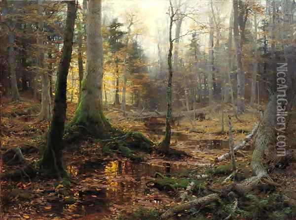 Fallen Monarchs (1886) Oil Painting - William Bliss Baker