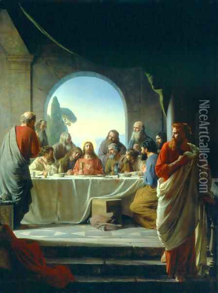 The Last Supper Oil Painting - Carl Heinrich Bloch