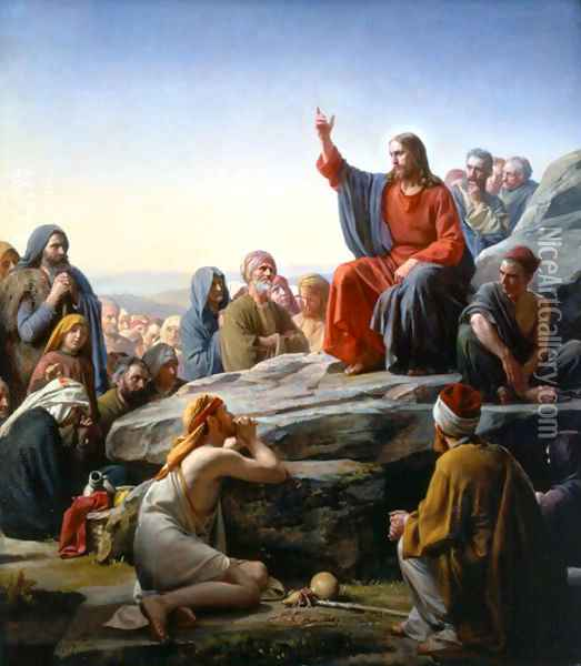 The Sermon on the Mount Oil Painting - Carl Heinrich Bloch