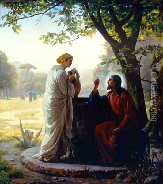 Woman at the Well Oil Painting - Carl Heinrich Bloch