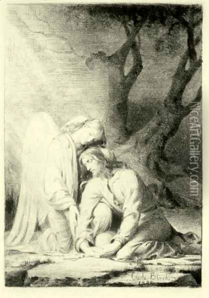 Christ at Gethsemane Oil Painting - Carl Heinrich Bloch