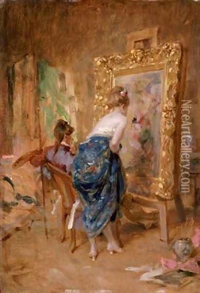 The Artist's Model Oil Painting - Charles Bargue