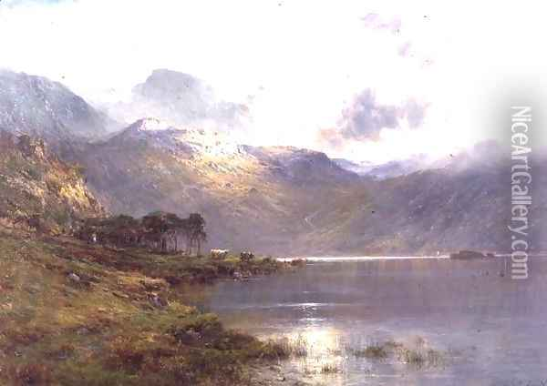 Near Inversnaid, after the rain Oil Painting - Alfred de Breanski