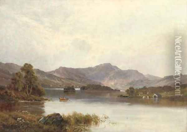Rydal Water, Cumbria Oil Painting - Alfred de Breanski