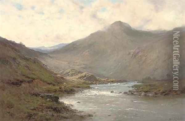 A bend of the Dee Oil Painting - Alfred de Breanski