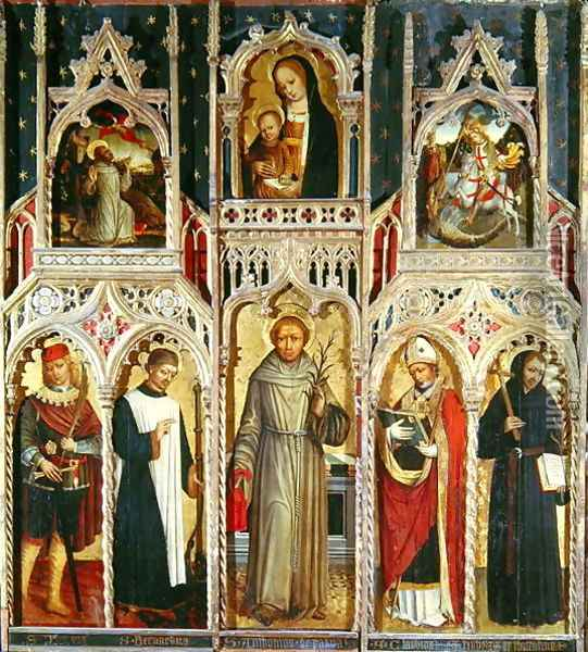 Altarpiece of St. Anthony Oil Painting - Ludovico Brea